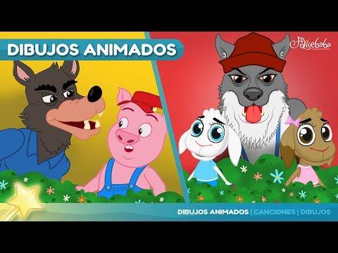 2 Cuentos | Los Tres Cerditos | El Lobo Feroz 🐺 Cuentos Infantiles en Español