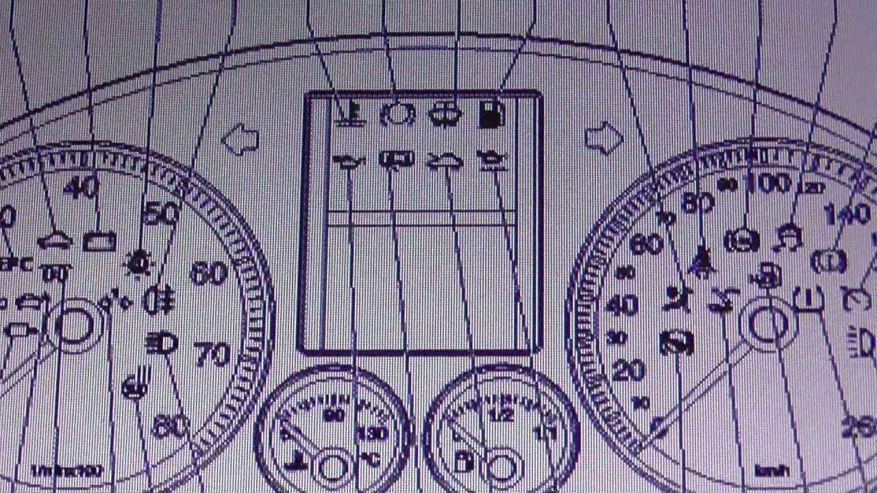 Vw Golf Mk5 2003 2009 Dashboard Warning Lights Symbols Diagnostic