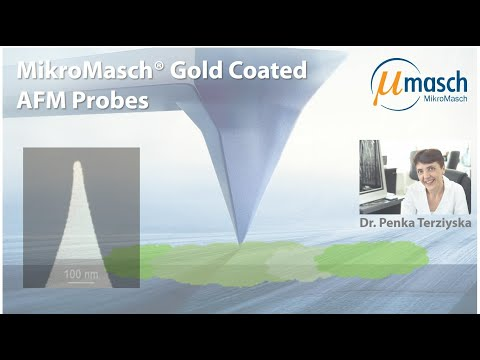 <h3>MikroMasch HQ Line Product Screencast on Gold coated AFM Probes <br /></h3> Presented by Dr. Penka Terziyska <br />Product Manager