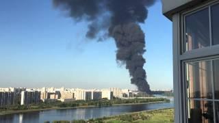 Пожар в Москве 12.08.15 Марьино