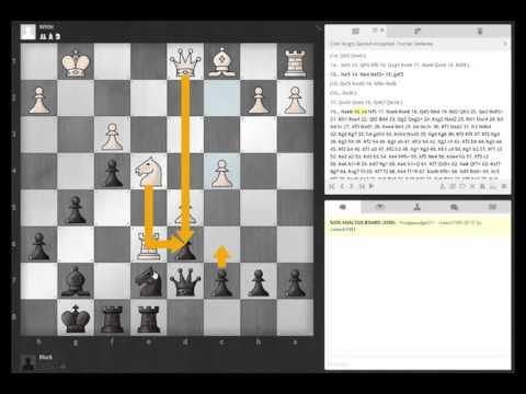 Analysis of Fischer Defense Live Blitz Game2