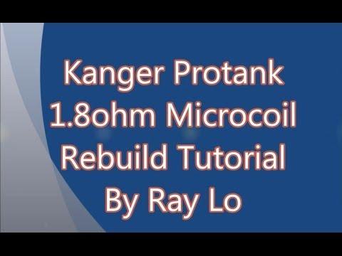 Kanger Protank, EVOD, and Unitank head cotton rebuild 1.8ohm micro coil tutorial!!