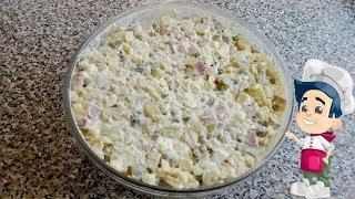 Салат оливье в горчично - сметанном соусе. Салат оливье с горчицей