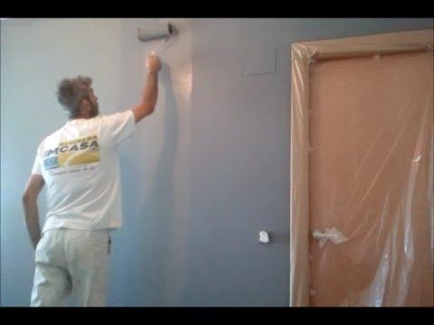 Pintar paredes en blanco y esmalte gris oscuro youtube - Salones blanco y gris ...