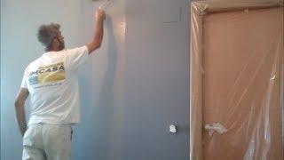 Pintar paredes en Blanco y Esmalte Gris Oscuro YouTube
