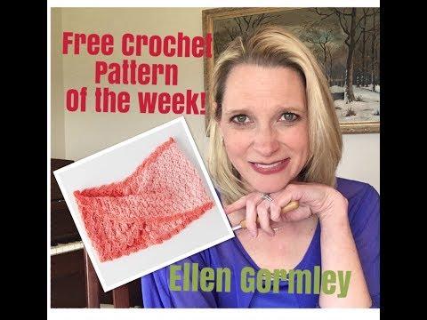 Free Crochet Pattern of the Week! Designed by Ellen Gormley