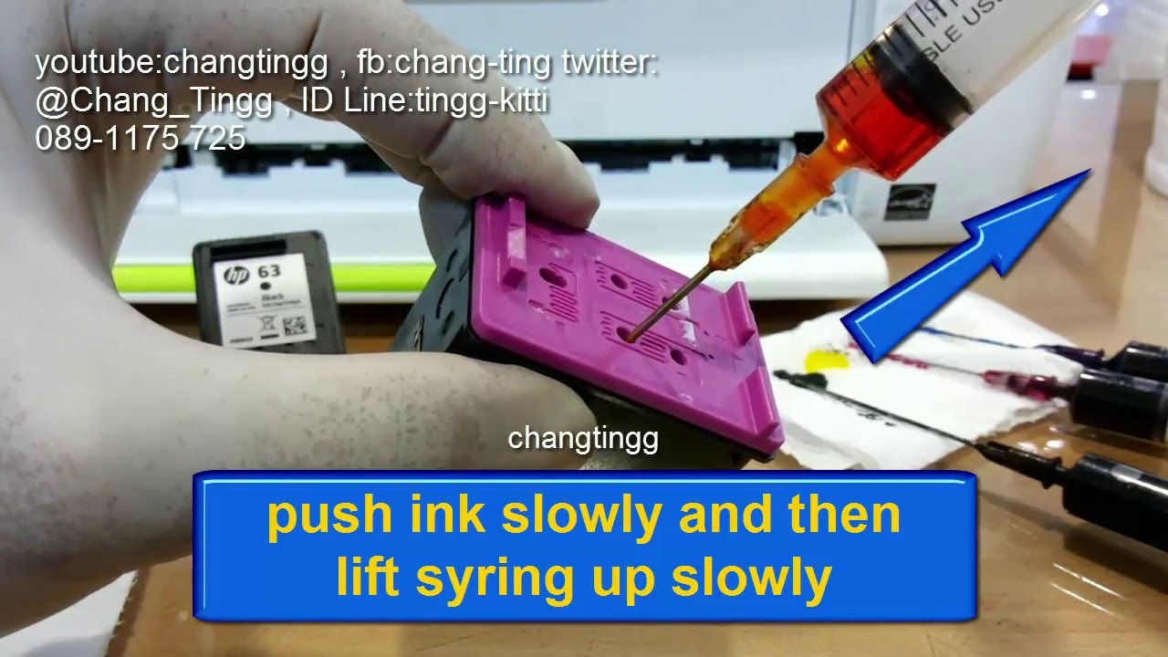 How To Refill Hp 63 Bk63 Co For Deskjet 1110 1112 2130 Cartridge Tinta Printer 802 Colour Original 21302131 2132 3630 3632 Changtingg