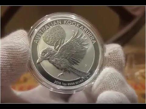 2018 Australia Kookaburra, Somali Elephant, Mexican Libertad 1 oz Silver Coins