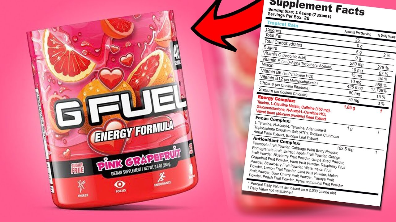 EVERY INGREDIENT IN G-FUEL AND WHAT IT DOES AND WHERE IT COMES FROM - GAMMA  LABS G-FUEL INGREDIENTS