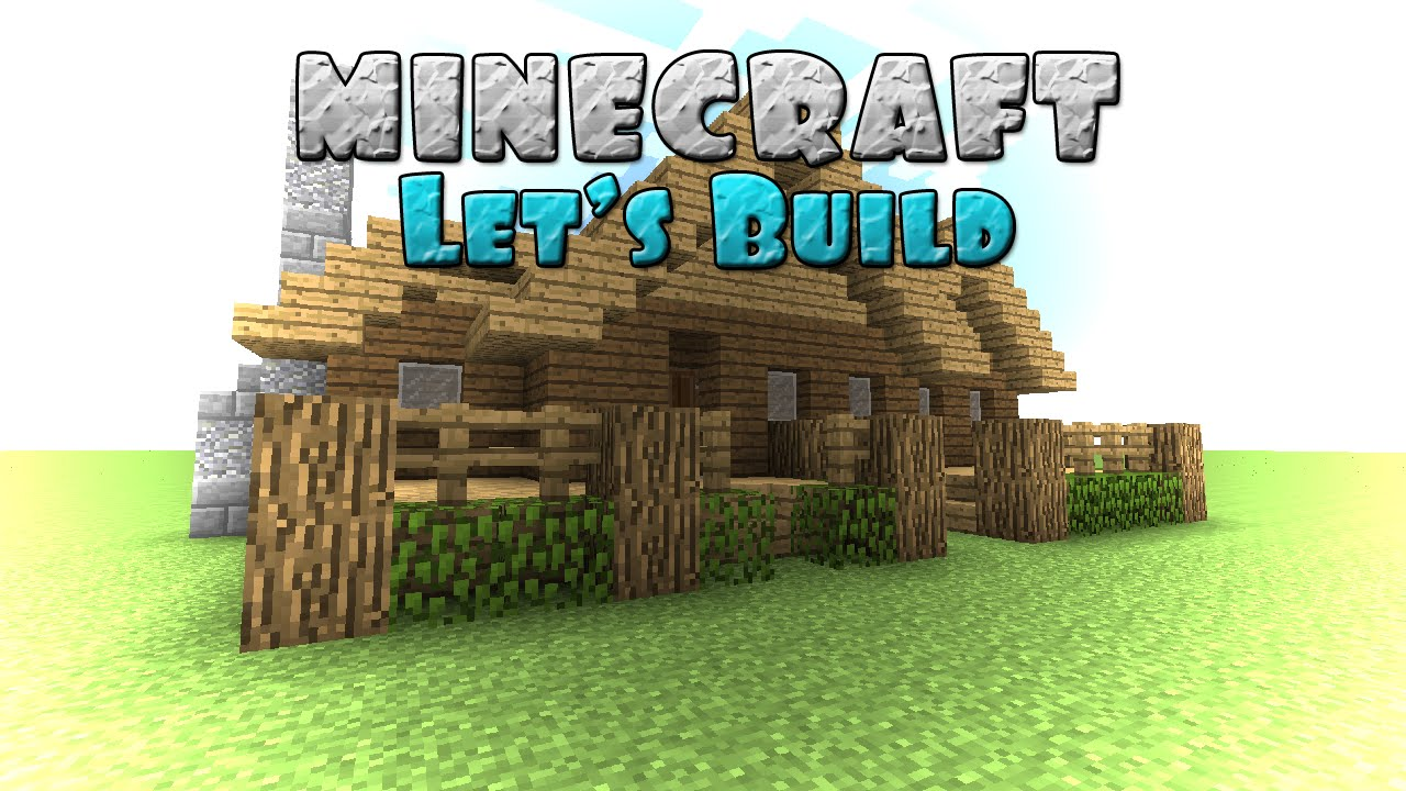 Minecraft let 39 s build basic log cabin beginner build for How to build a house cheap and fast