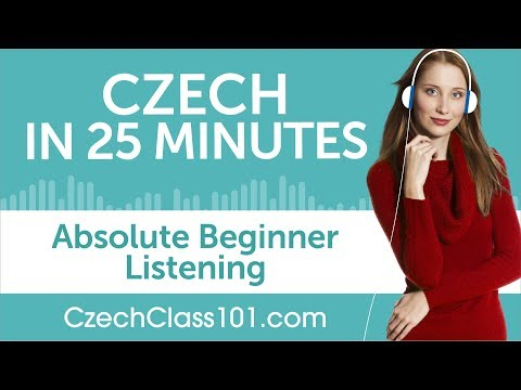 25 Minutes of Czech Listening Comprehension for Absolute Beginner