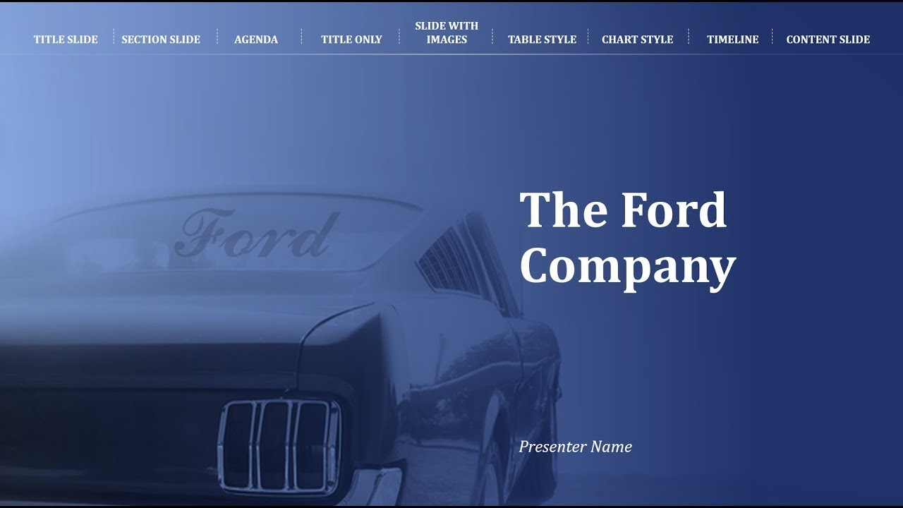 Ford Corporate Powerpoint Template As Envisioned By Our Designers