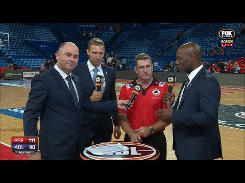 POST MATCH INTERVIEW WITH TREVOR GLEESON - PERTH WILDCATS vs ADELAIDE 36ERS