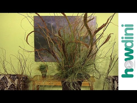 How to make a dramatic arrangement with branches