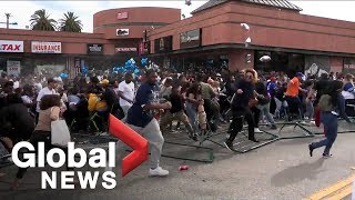 Nipsey Hussle funeral: Anxious crowds lead to pair of stampedes outside late rapper\'s store