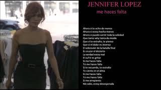jennifer lopez me haces falta + lyrics