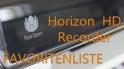 Review: Horizon HD Recorder von Unitymedia / Samsung - Favoritenliste