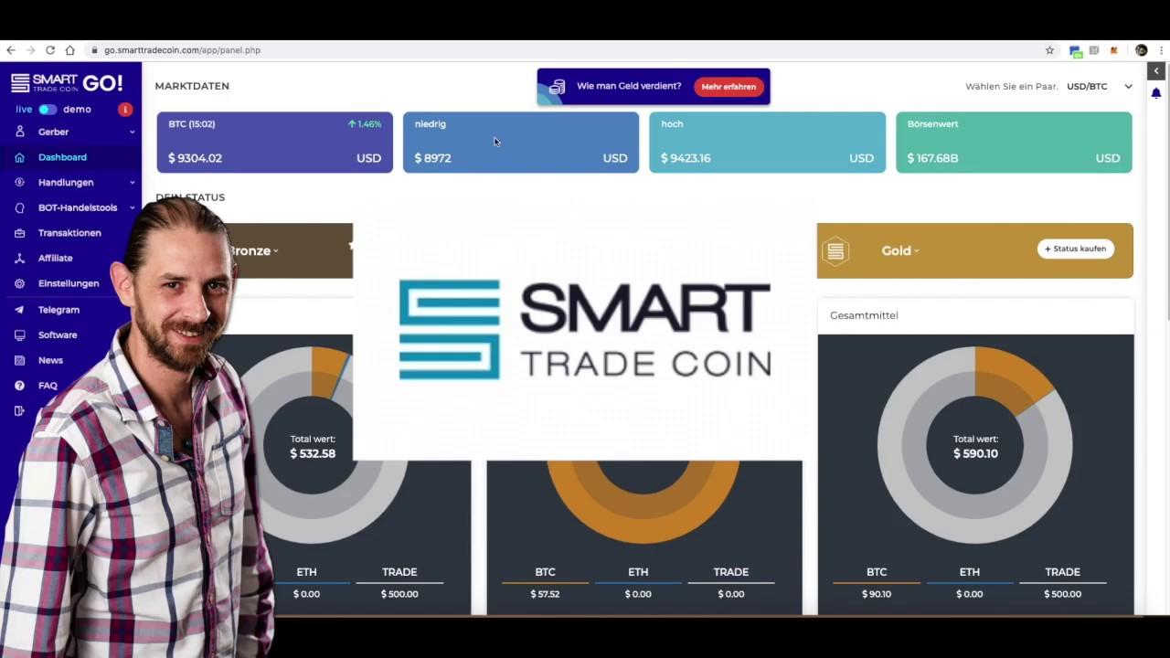 Smart Trade Coin GO! Erfahrung nach 36 Stunden