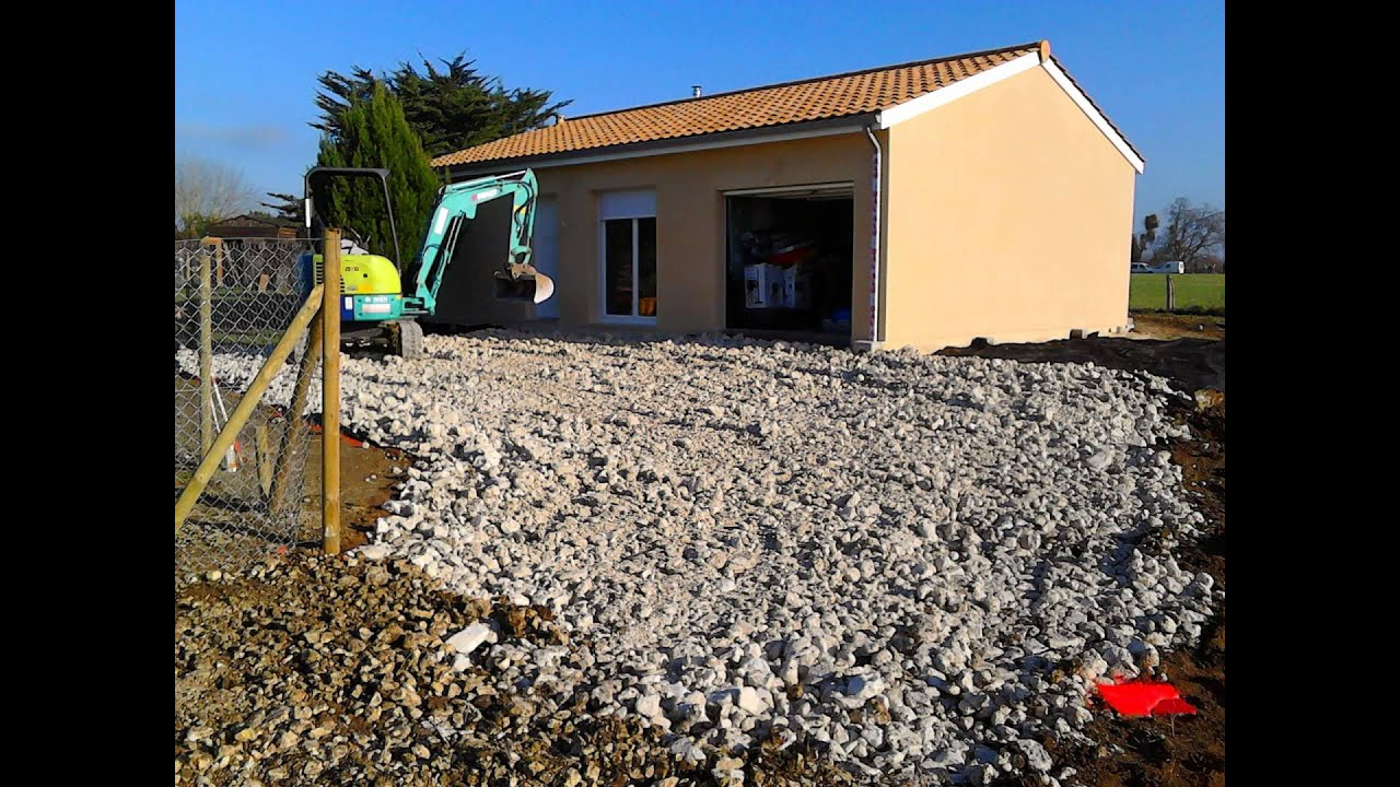 Création Du0027un Accés Calcaire Maison à Camiran (33) - YouTube