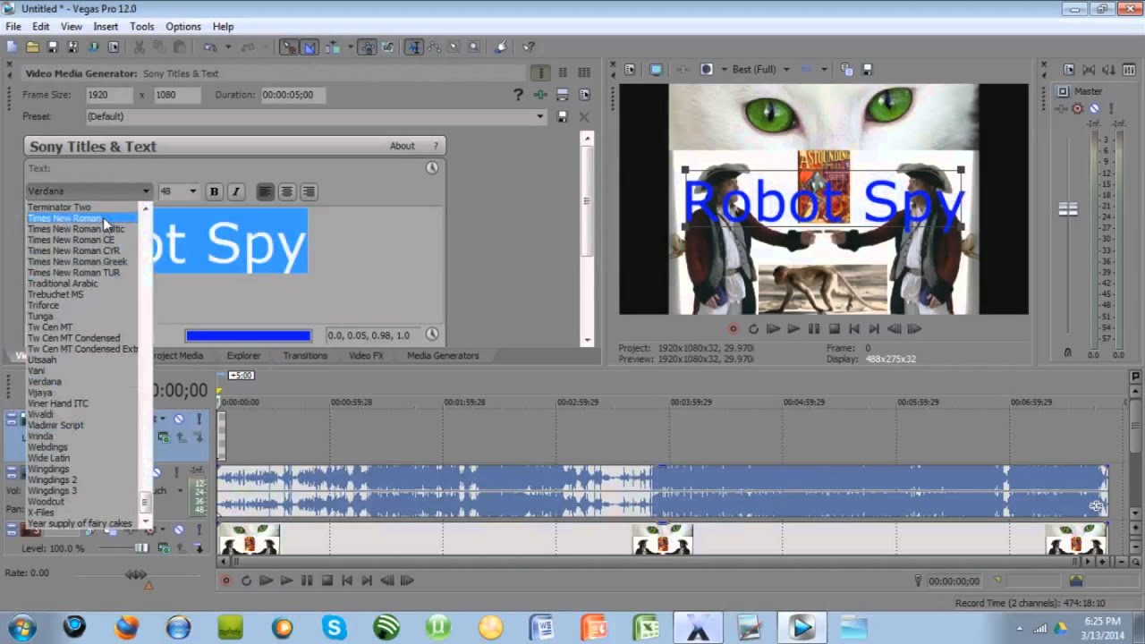 vegas pro how to make things move