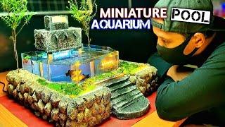 Beautiful Mini Waterfall Aquarium for Table Decoration - MINIATURE GARDEN POOL