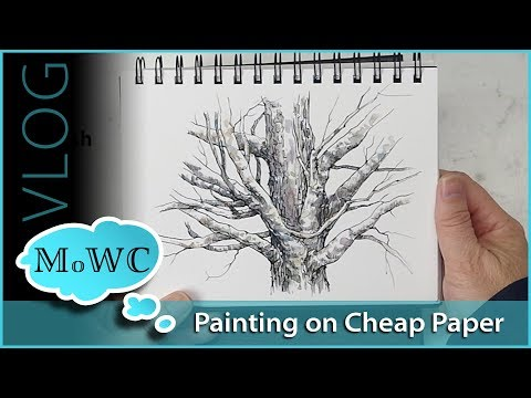 My Best Tips For Painting On Cheaper Watercolor Papers – Vlog