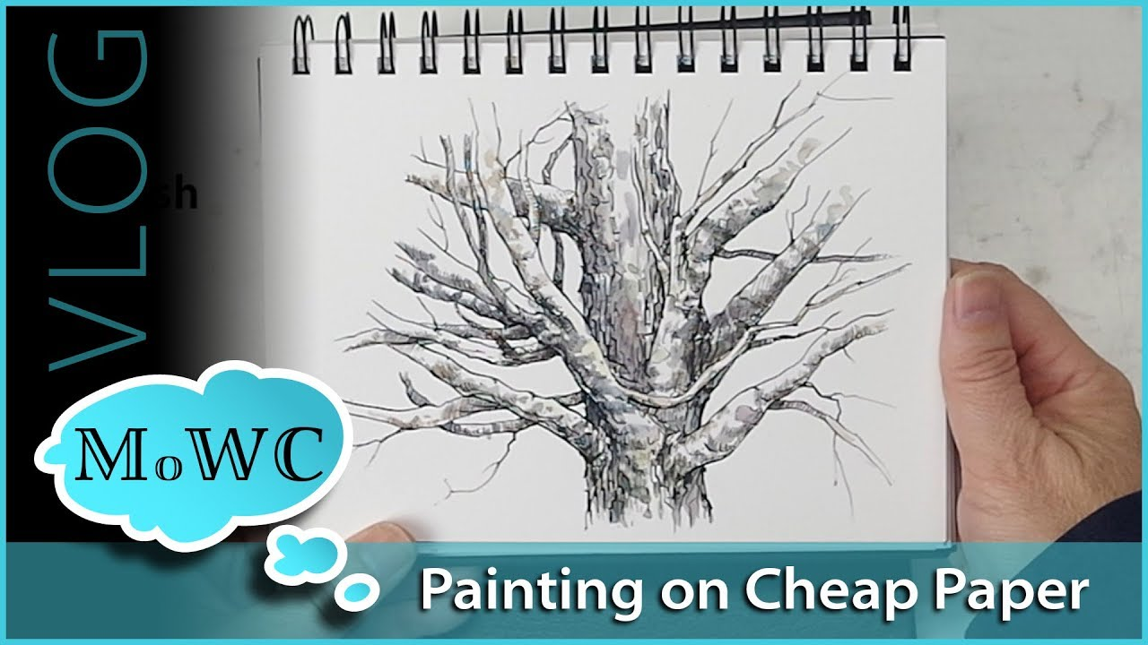 my best tips for painting on cheaper watercolor papers vlog youtube