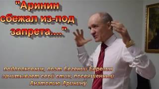 """Евгений Березин - стих """"Аринин сбежал из-под запрета..."""""""