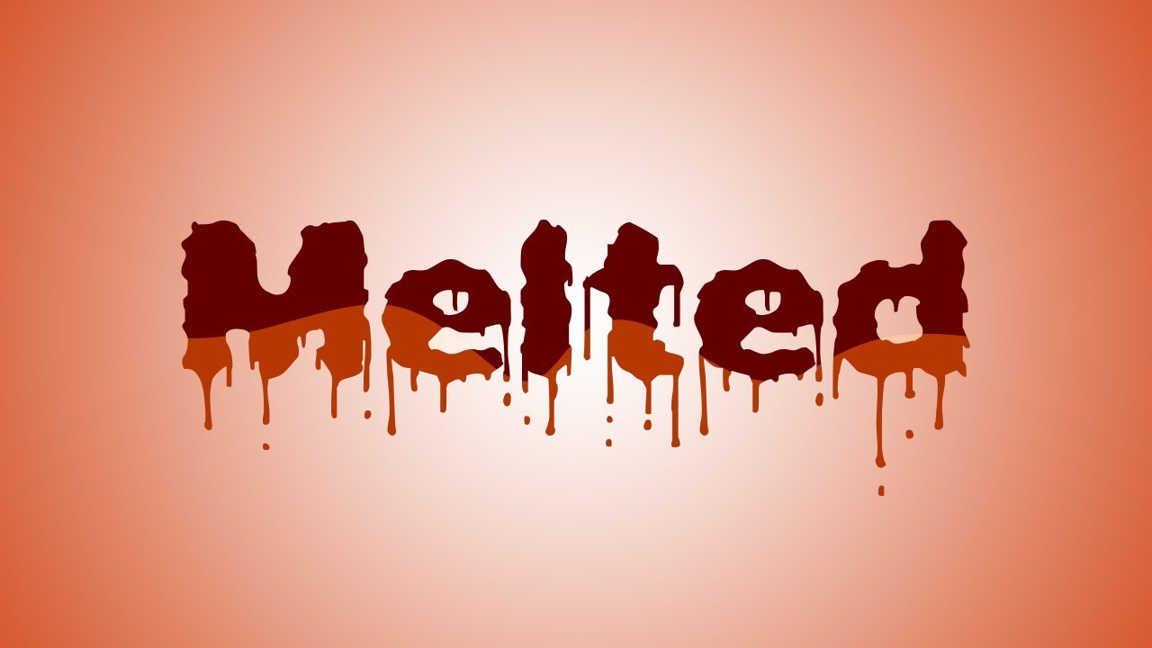 Photoshop Effects: Melted Chocolate Text Effect