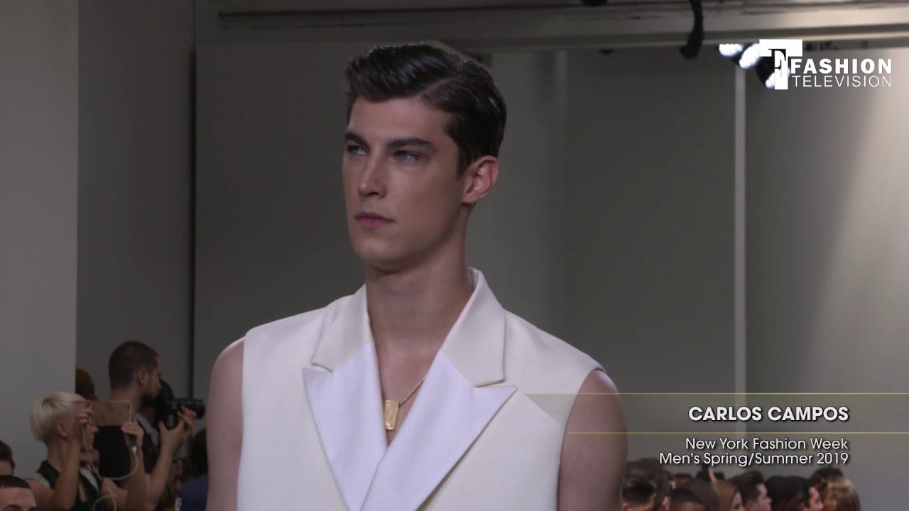 e402b56a62f0e CARLOS CAMPOS New York Fashion Week Men's Spring/Summer 2019 - YouTube