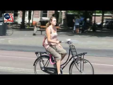Women cycling in The Netherlands