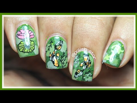 Koi Fish Pond Nail Art | Inspired | Born Pretty Store | Picture Polish | Polish Star
