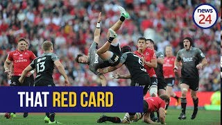Watch as Ackermann reacts to Kwagga red card