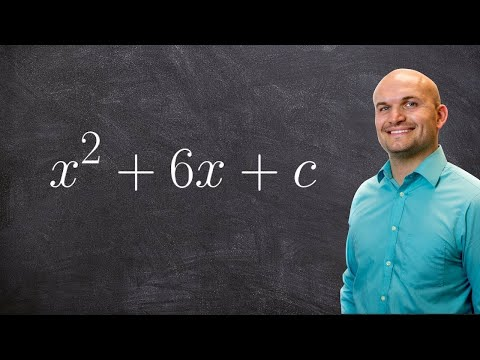 Algebra 2 - finding the value of C for a perfect square x^2 + 6x + c