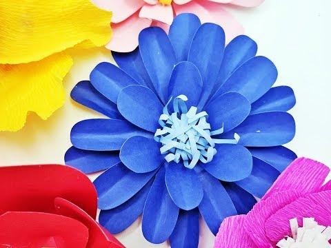 DIY Paper flower backdrop  Plus Circle 01 paper cardstock