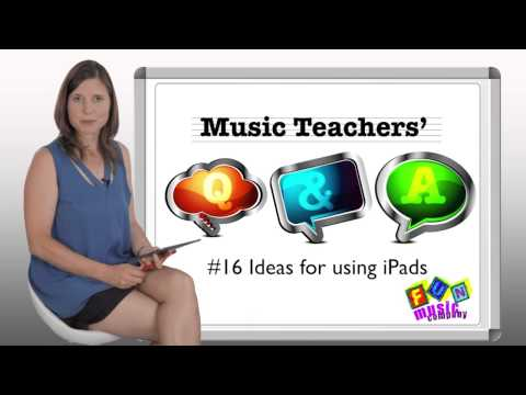 Ideas for iPad in Music Lessons - Music Teachers Q and A