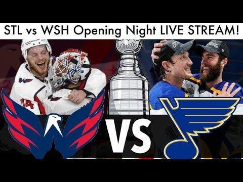 Blues Vs Capitals NHL Opening Game LIVE STREAM! (Hockey Reaction STL/WSH Streams & Talk 2019)