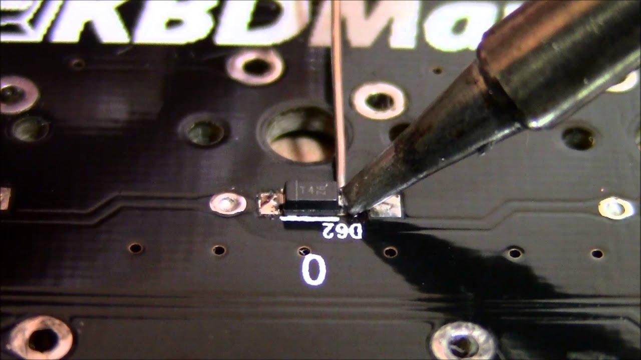 soldering smd diodes youtube. Black Bedroom Furniture Sets. Home Design Ideas