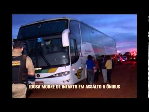 Idosa morre de infarto durante assalto a ônibus que faz linha BH-Cuiabá