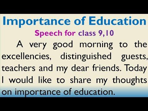type my education speech