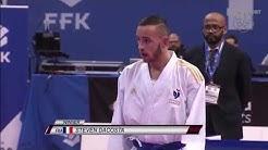 Final: DaCosta (FRA) dominates Maresca (ITA) in -67kg Male- Karate 1 Premier League 2020, Paris