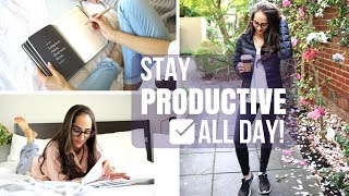 10 Ways To Stay Productive ALL DAY LONG! | Study With Jess