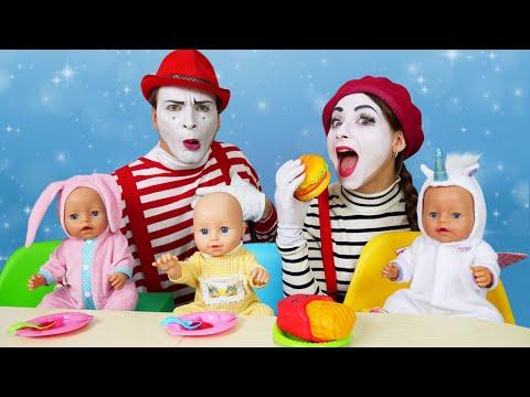 Куклы Беби Бон в видео с игрушками - Как Мама для Тройняшек Baby Born! – Весёлые игры для детей