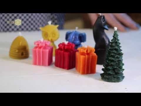 Thorne Beehives - making a candle with a TS silicone mould
