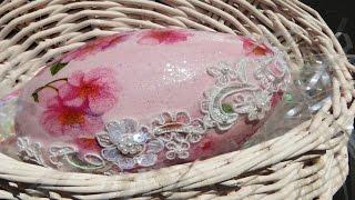 Romantique Easter Egg Decoupage