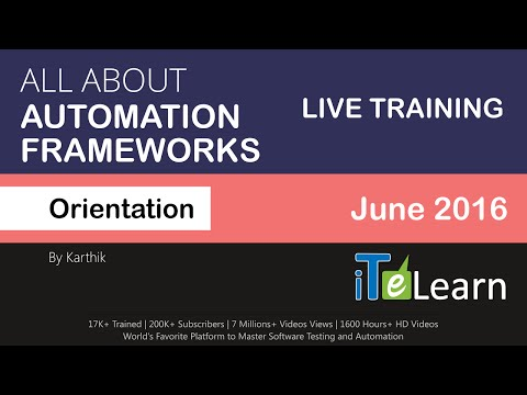 All about Automation Frameworks. How to build a test automation framework? Keyword, Data-Driven, POM