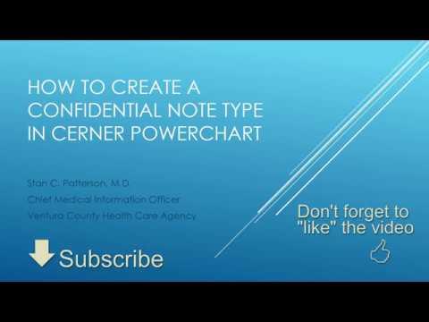 Confidential Note Type Tutorial