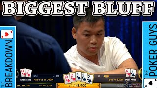 The Breakdown: (Nearly) $1m Dollar BLUFF. Insane or Brilliant?