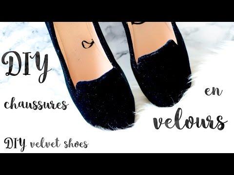 DIY chaussures en velours / DIY velvet shoes