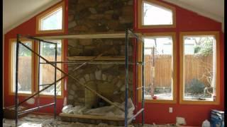 Stone Veneer Fireplace In 4 Minutes